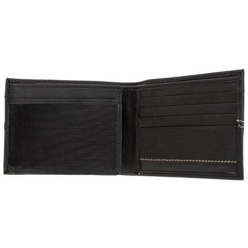 Canyon Outback Silas Black Leather Zippered Wallet