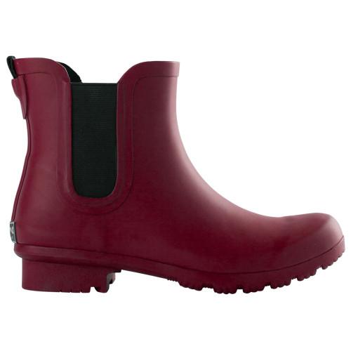 Roma Boots Women's Matte Maroon Ankle Rain Boot