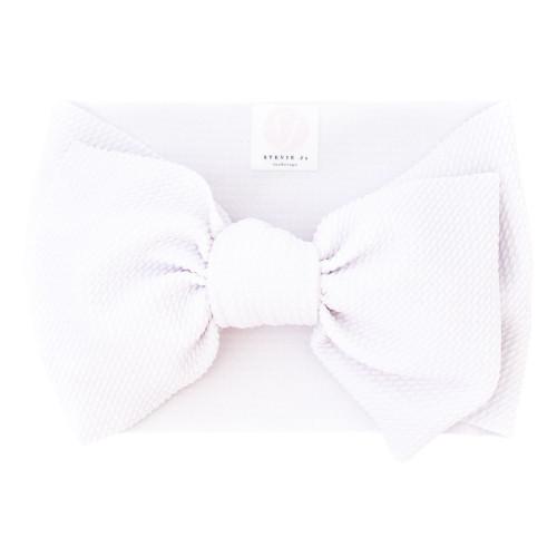 White Chandler Baby Headband