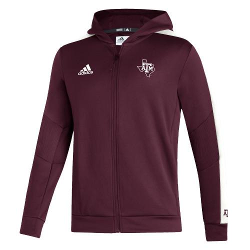 Adidas Men's Maroon Sideline Full Zip Jacket