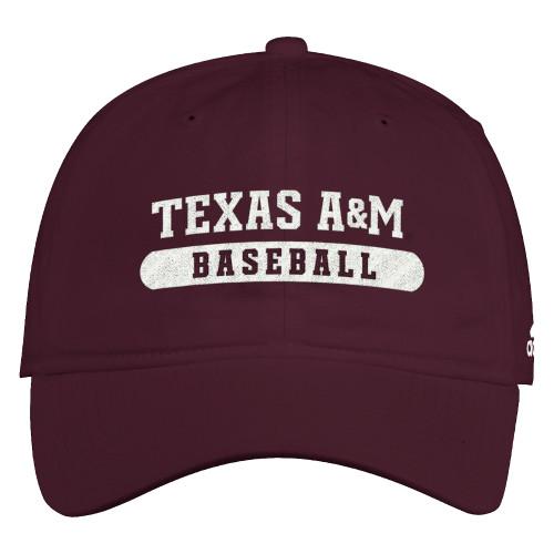 Adidas Men's Maroon Baseball Slouch Adjustable Cap