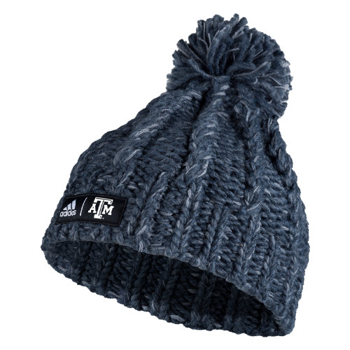 Adidas Women's Grey Chunky Knit Beanie
