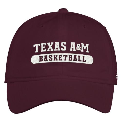 Adidas Men's Maroon Basketball Slouch Adjustable Cap