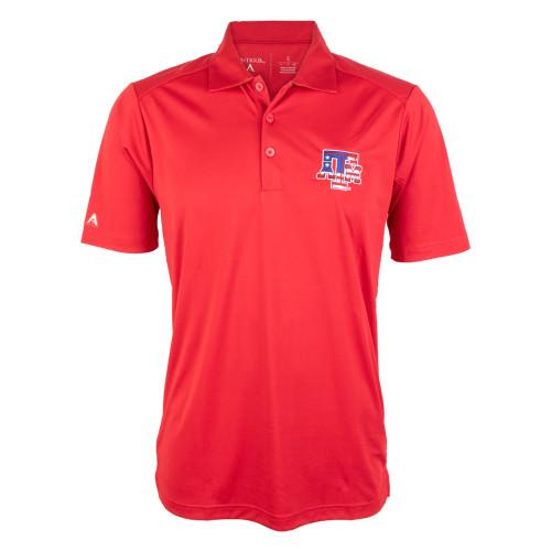 Antigua Men's Red USA Tribute Short Sleeve Polo