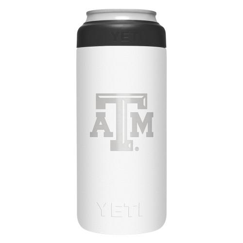 Yeti White 12 Ounce Logo Colster Slim Can Insulator