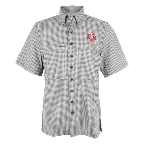 GameGuard Men's Gunmetal Tekcheck Short Sleeve Shirt