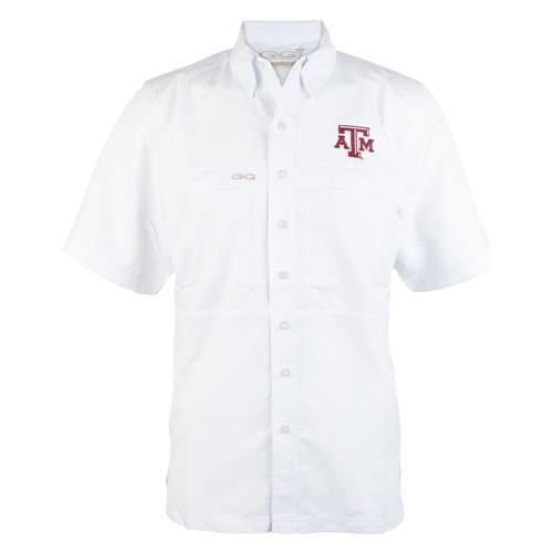 GameGuard Men's White Microfiber Short Sleeve Shirt