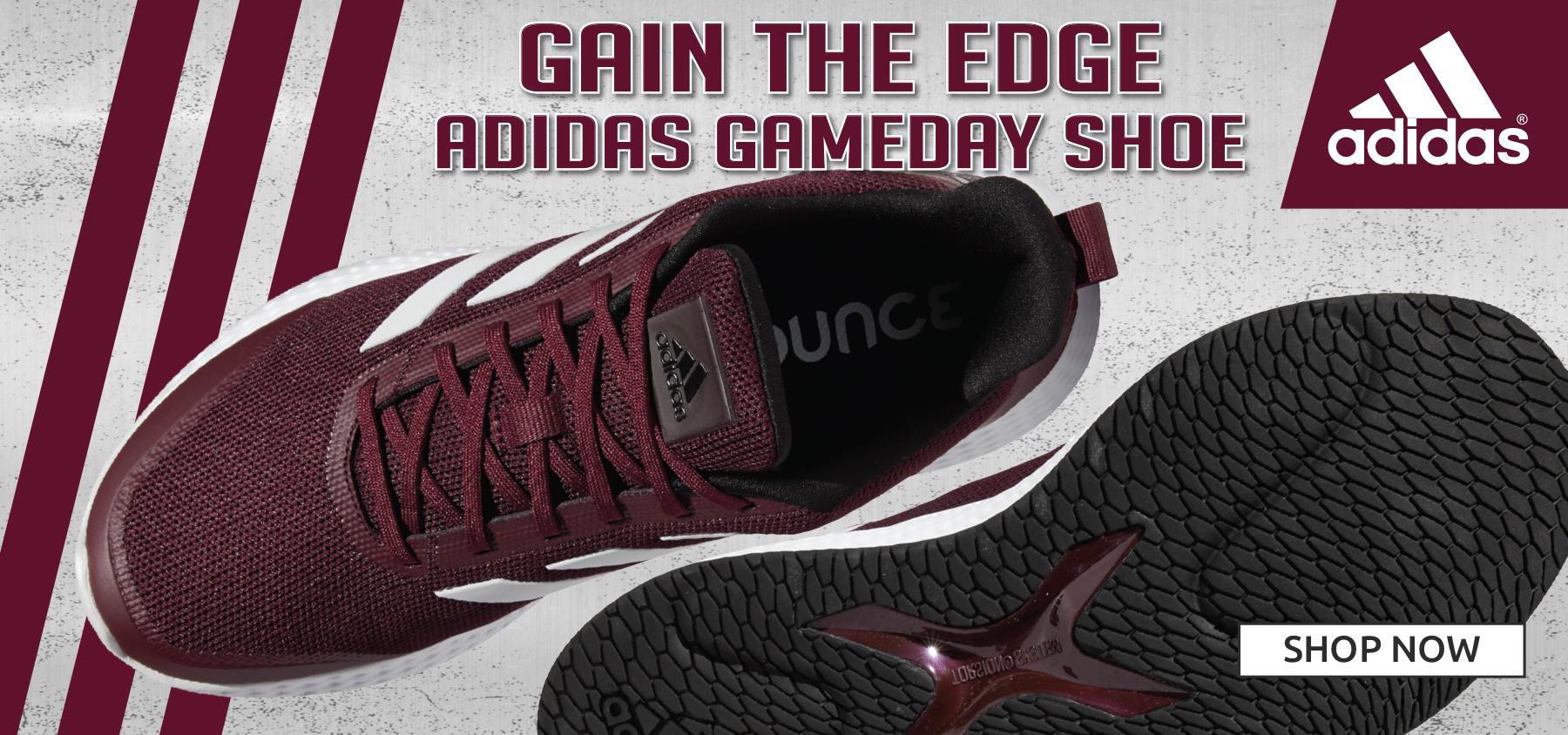 Maroon Adidas shoes