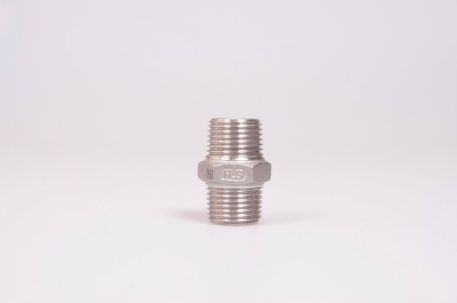"1/2"" Stainless Steel Hex Nipple Male"