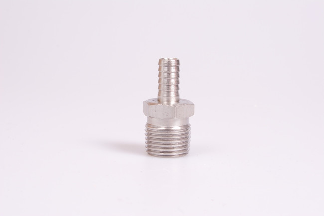 "3/8"" Barb to 1/2"" NPT Stainless Steel"