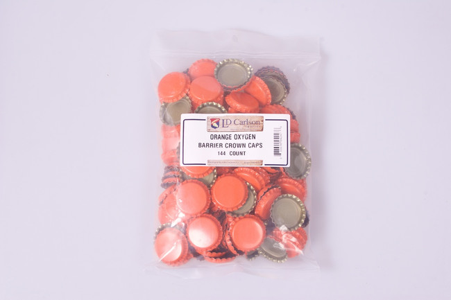 Crown Bottle Caps Orange 144 ct