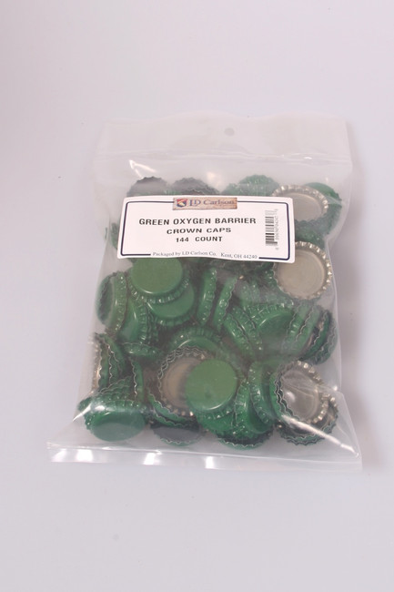 Crown Bottle Caps Green 144 ct