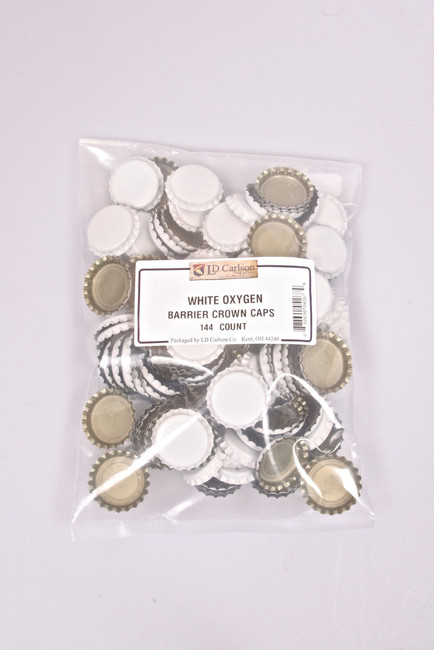 Crown Bottle Caps White 144 Ct