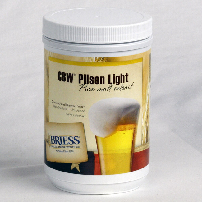 Briess CBW Pilsen Light Pure Malt Extract 3.3 lb Canister
