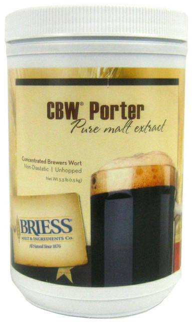 Briess CBW Porter Pure Malt Extract Syrup 3.3 lb Canister