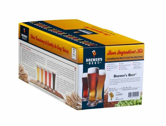 Brewer's Best Honey Brown Ale Beer Ingredient Kit 5 gal