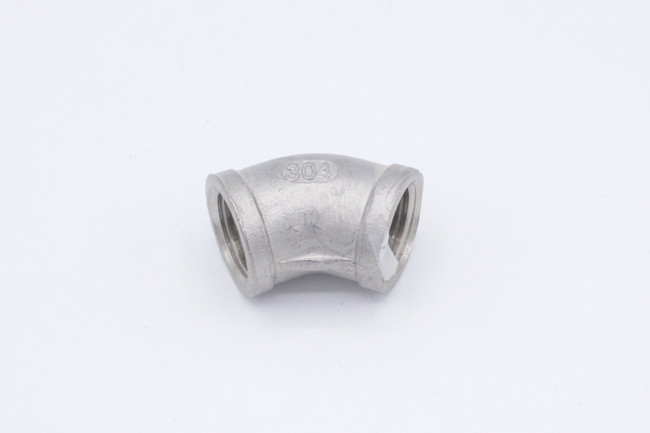 "45° Stainless Steel 1/2"" NPT Elbow"