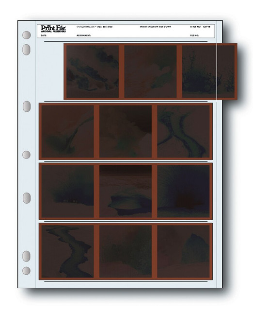 Print File 120mm Negative Pages 25/pk