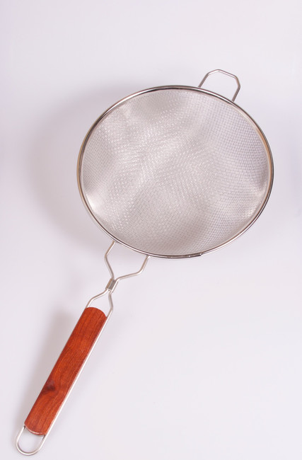 """Stainless Steel Double Mesh Strainer 10"""""""