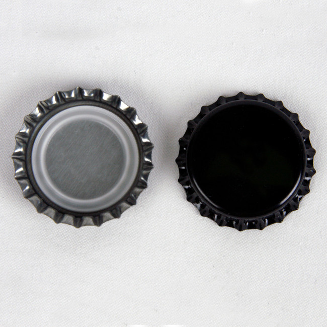 Crown Bottle Caps Black 144 ct