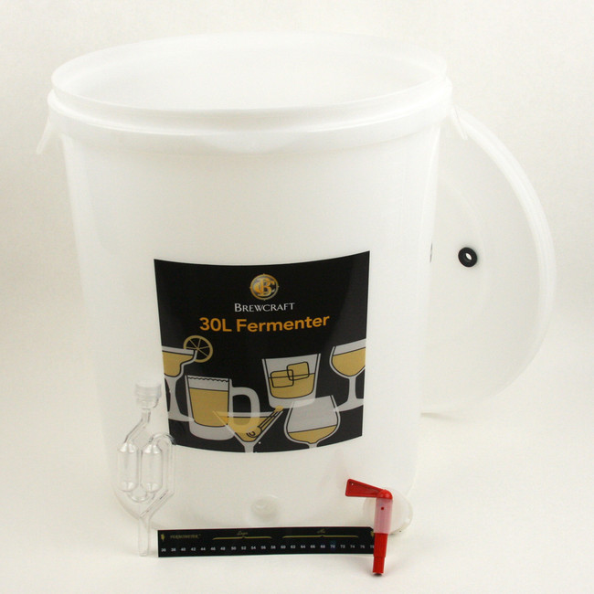 Brewcraft 8 gal Fermenter with Lid, Spigot, Air Lock, Thermometer