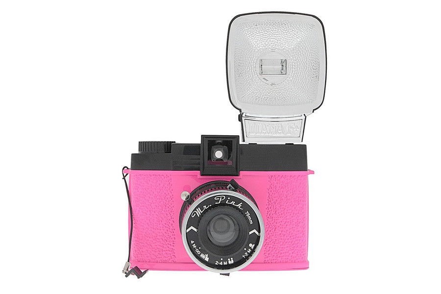 Diana F+ Camera Mr. Pink with Flash and Filters