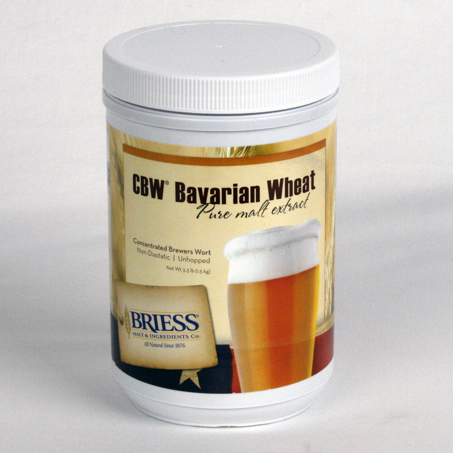 Briess CBW Bavarian Wheat Pure Malt Extract Syrup 3.3 lb Canister