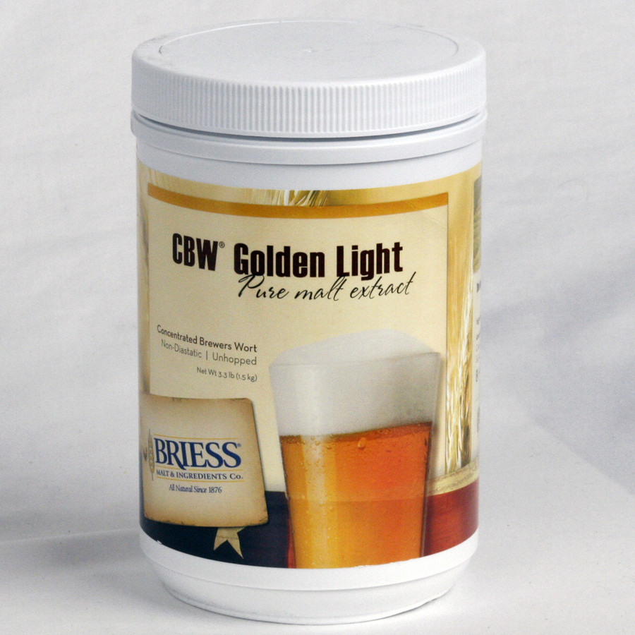 Briess CBW Golden Light Pure Malt Extract 3.3 lb Canister