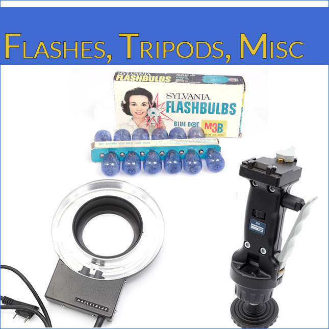 Flashes, Tripods, Misc