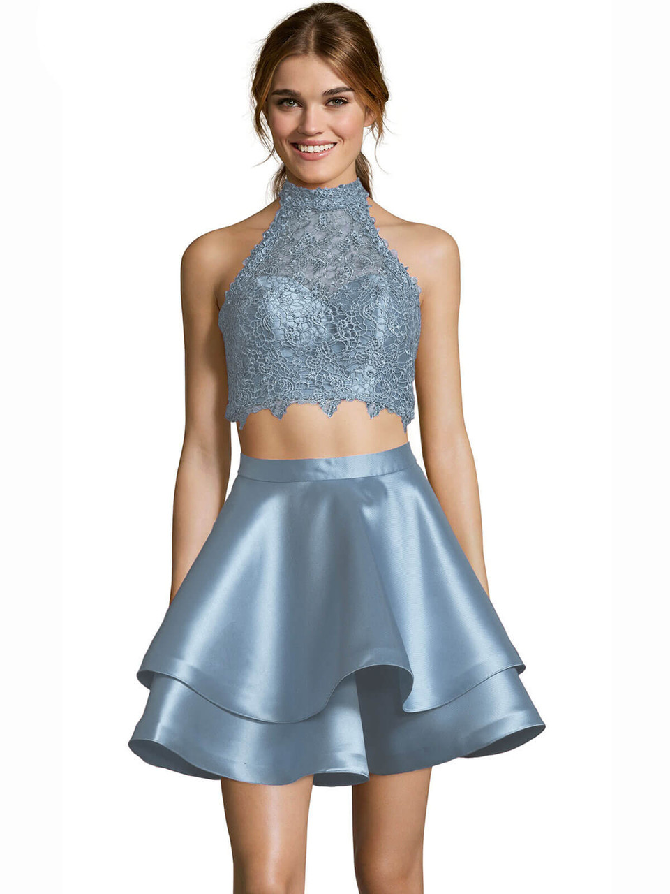3179f25ac5ba Alyce 3735 Two Piece Short Dress | PromHeadquarters.com