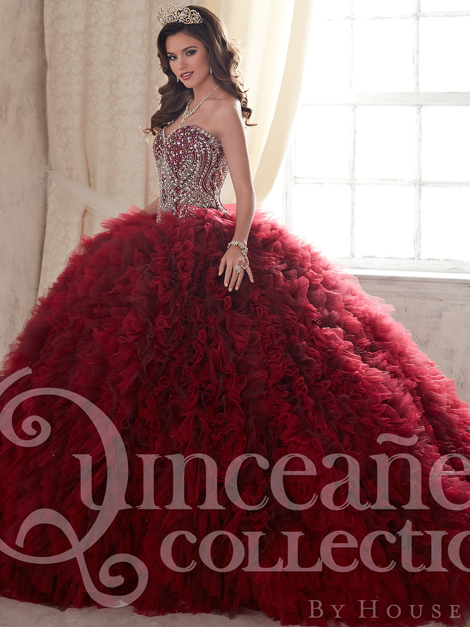 17071aa617b Tiffany Tulle Ball Gown Quinceanera Dress 26838