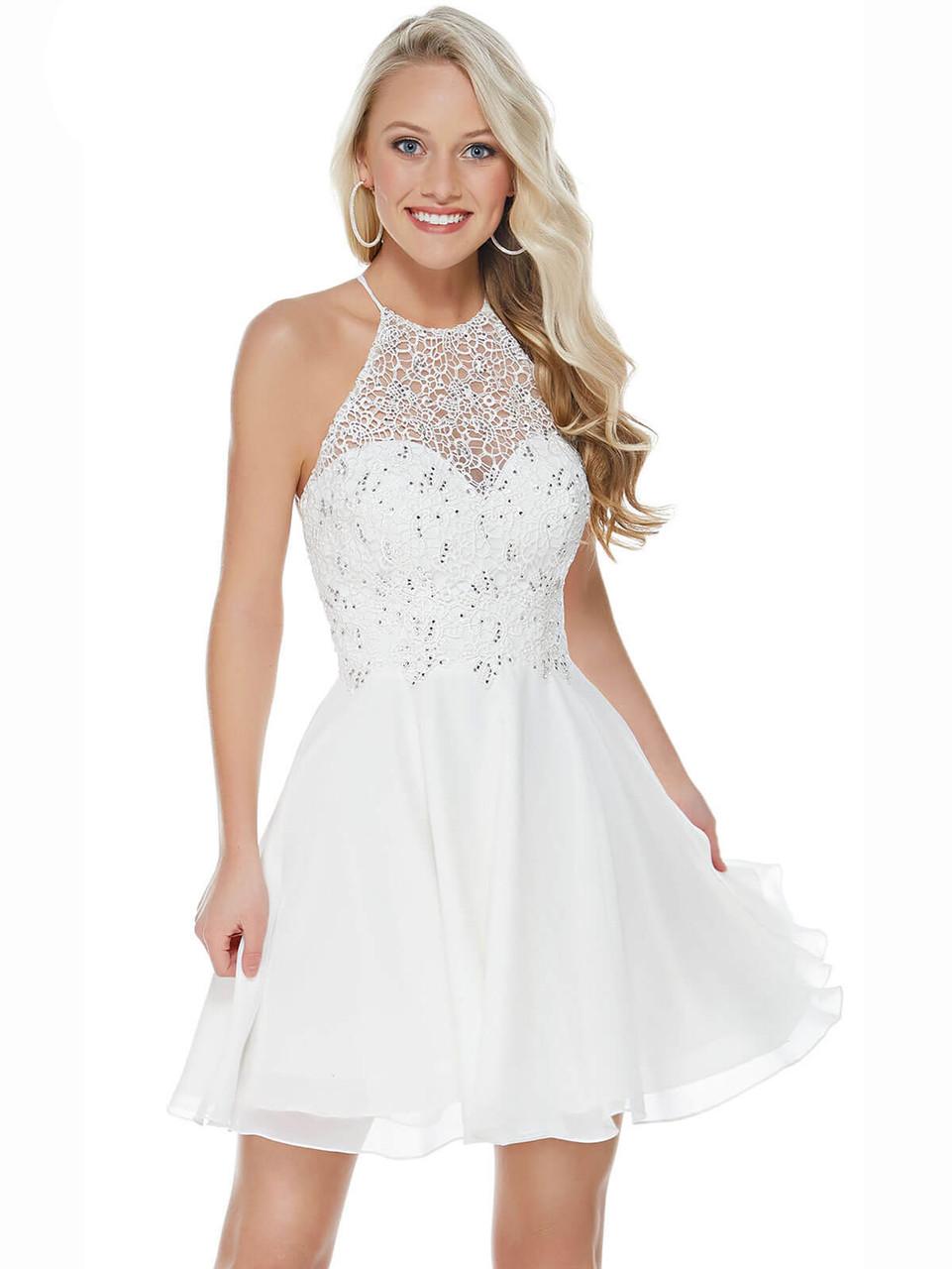 35d55d7ca530 Alyce 3717 Halter A-line Short Dress | PromHeadquarters.com