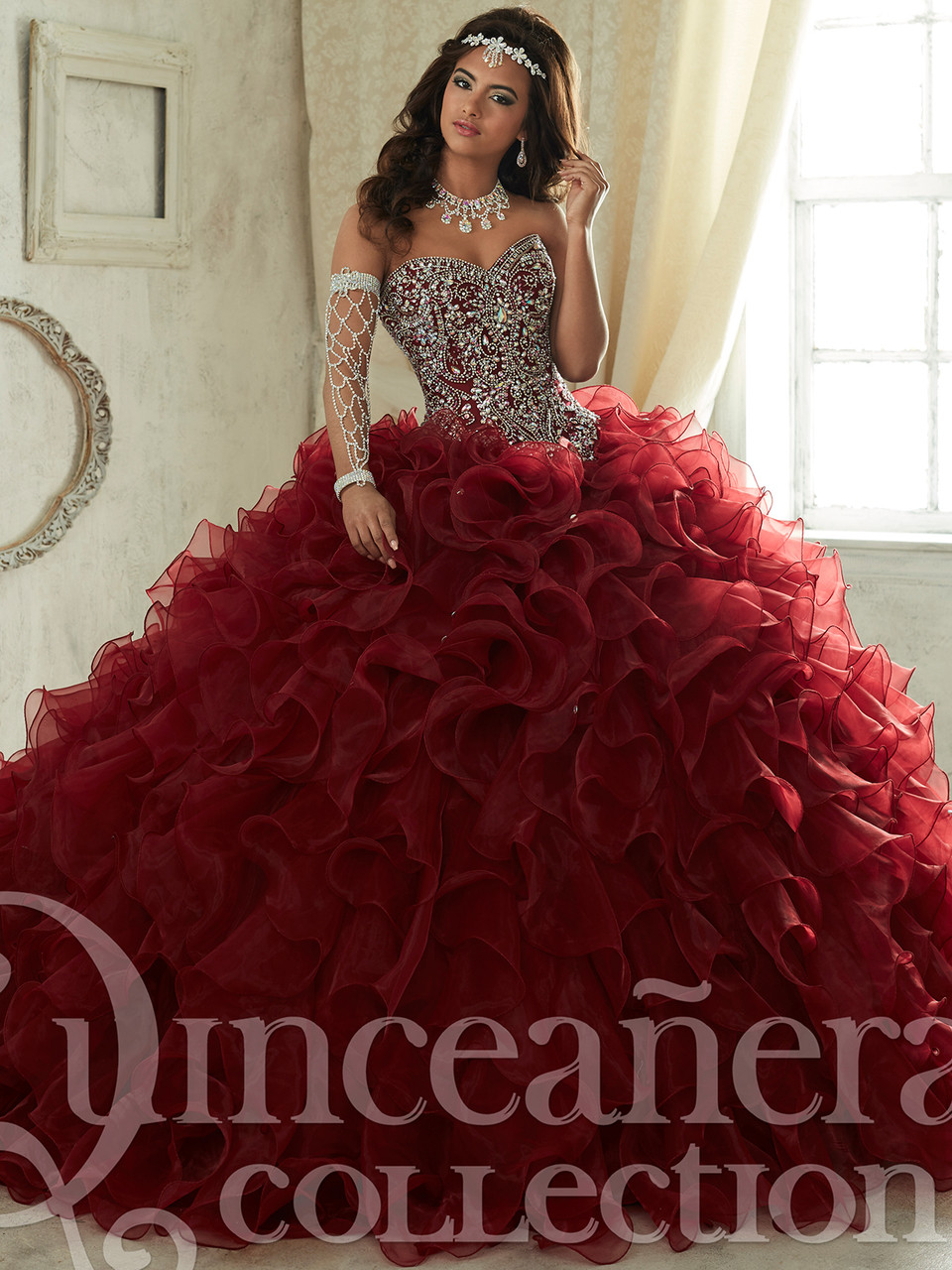 95f3c16f891 Organza Ruffled Ball Gown Tiffany Quinceanera Dress 26833