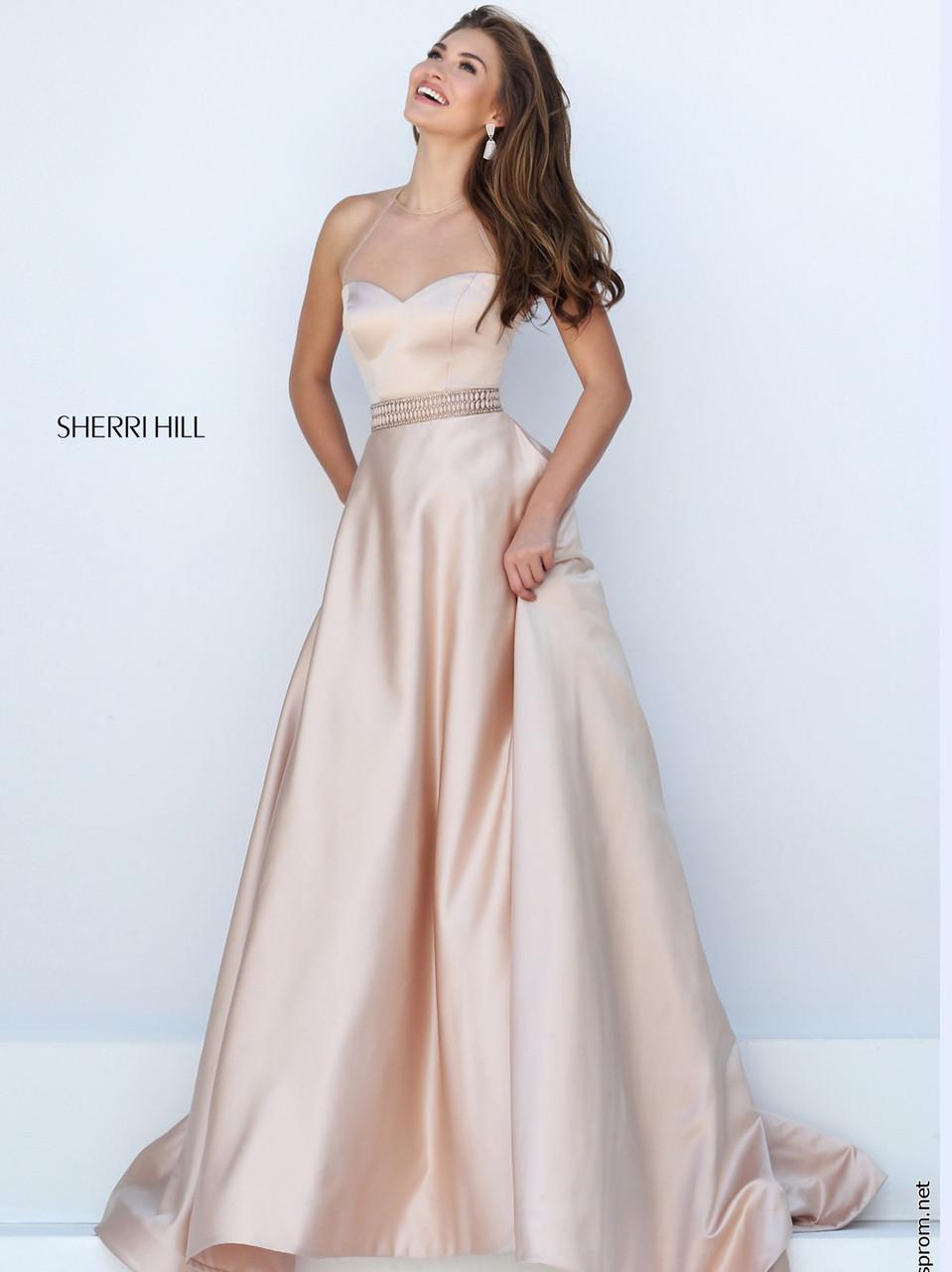 9e4b46db86 Sherri Hill 50222 Halter Neckline Prom Ball Gown
