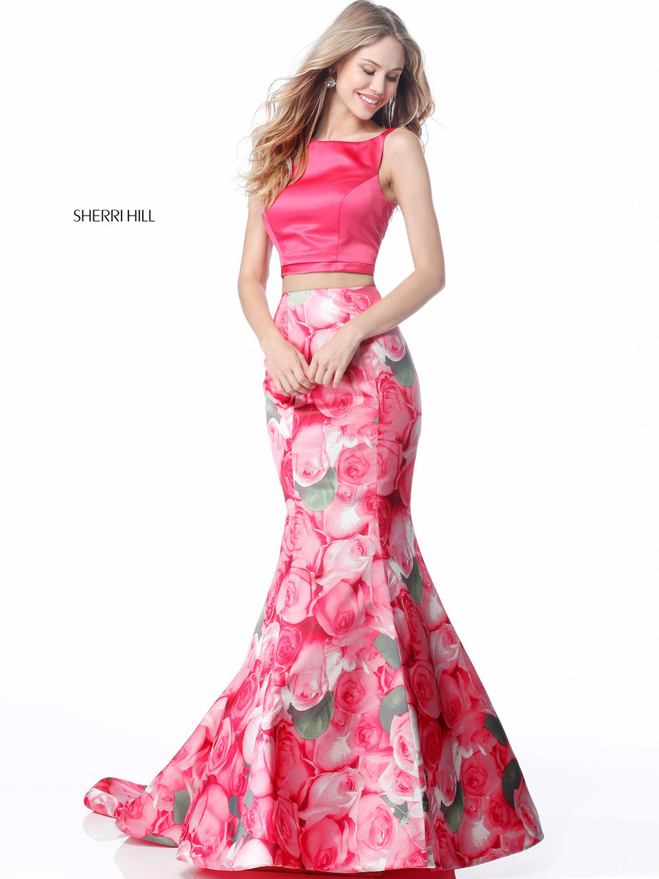 ee516aae734 Two Piece Floral Sherri Hill 51848