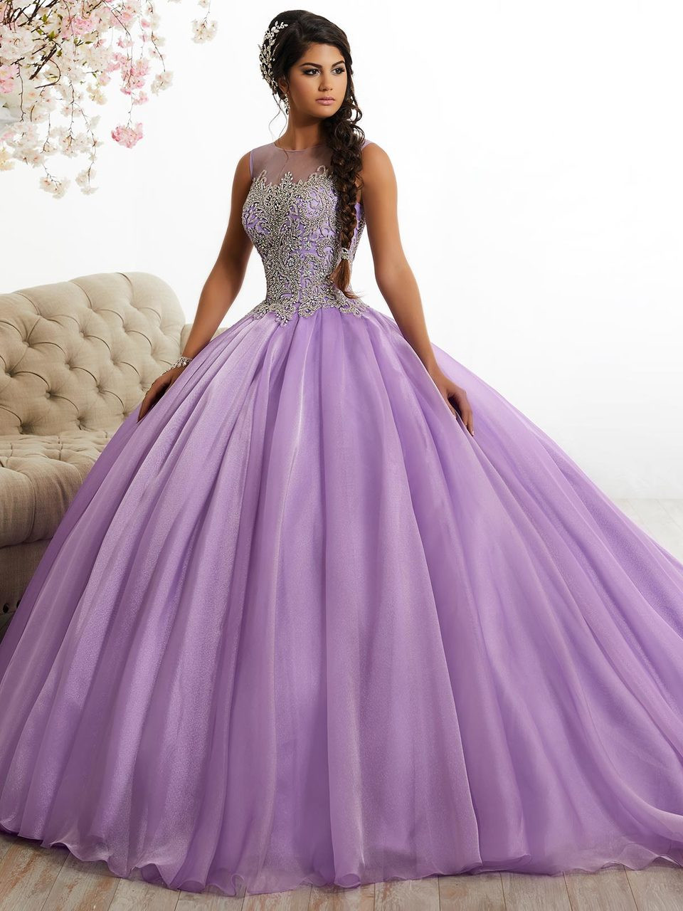 f8ec2bf6550 Organza Ball Gown Tiffany Quinceanera Dress 26885