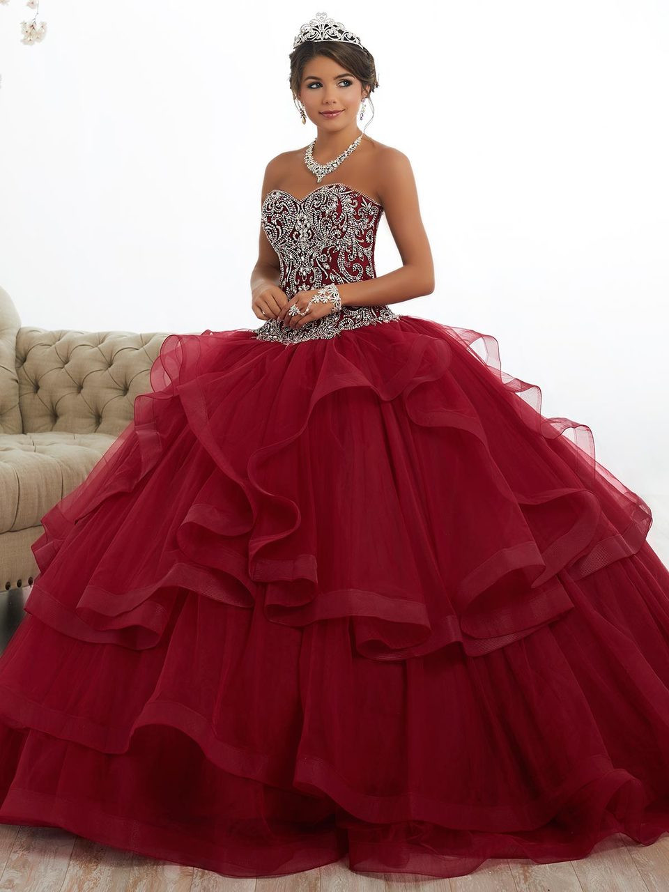 32e35241ae8 Sweetheart Ball Gown Tiffany Quinceanera Dress 26891 ...