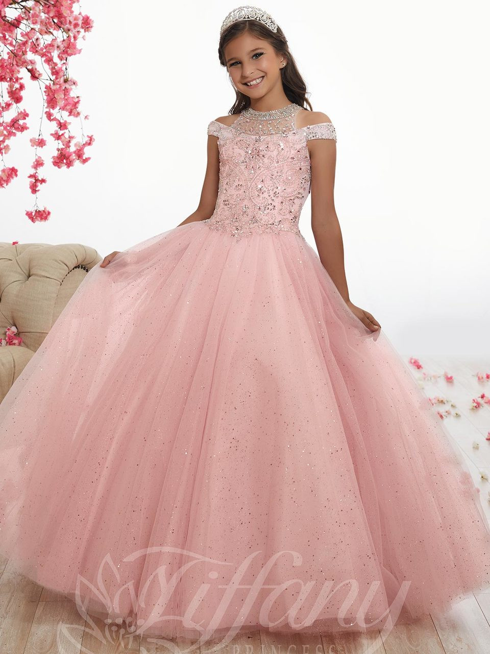 0ea39c07207 Intricate Beaded Back Sparkle Tulle Tiffany Princess Dress 13525 ...
