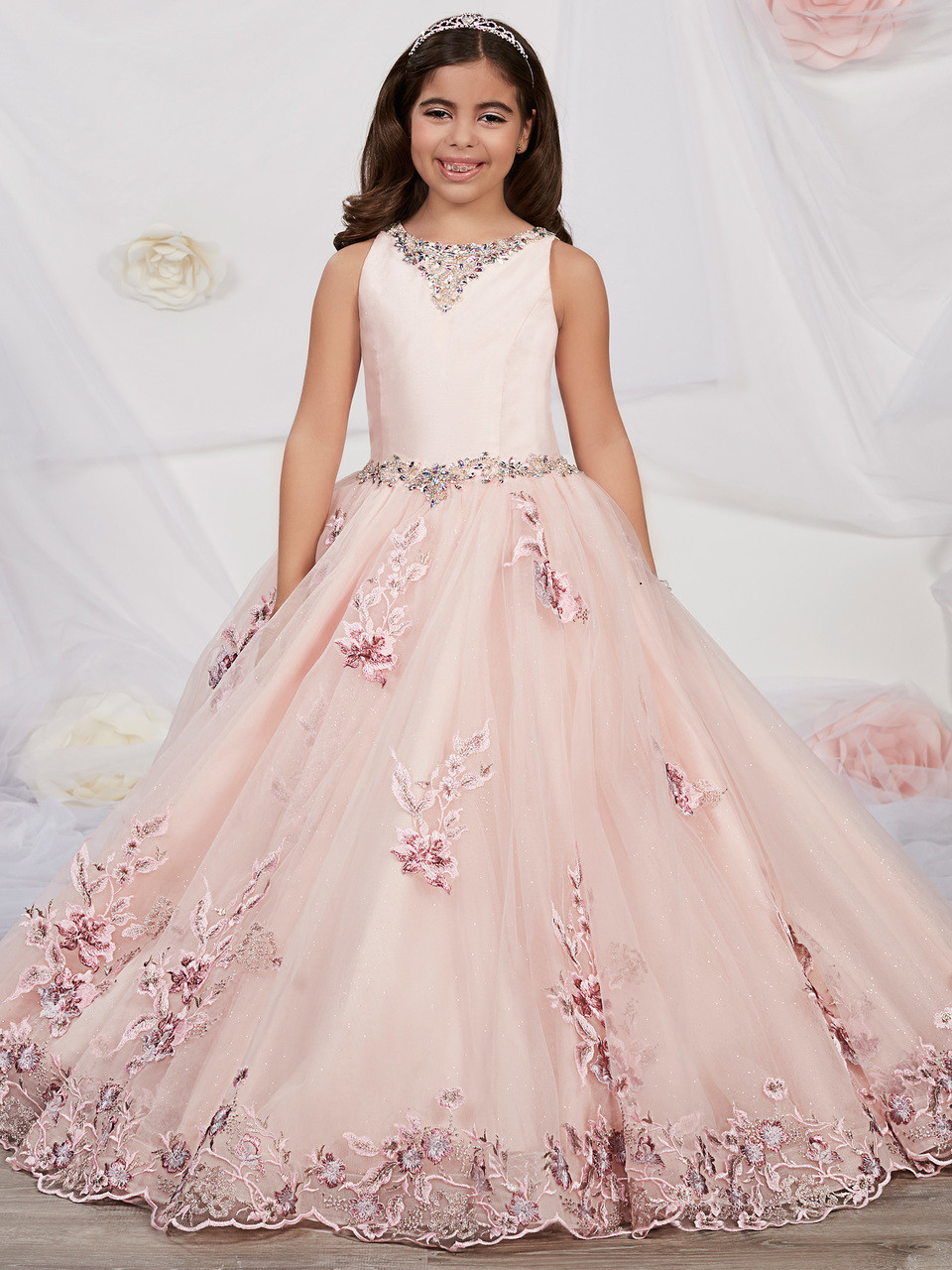 85865215be2 Scoop Neck Tiffany Princess Ball Gown Dress 13542