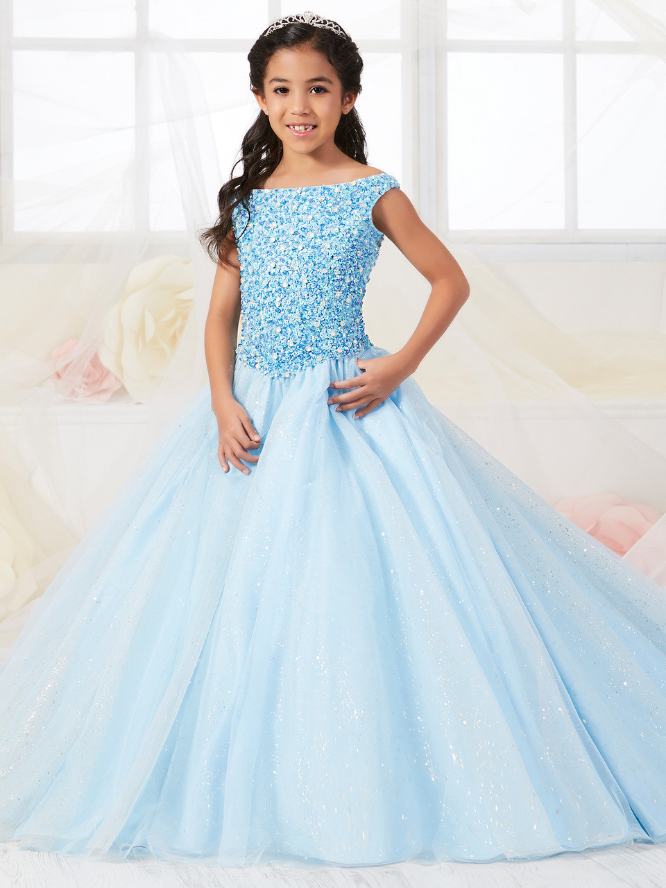 7be28884c23a Off The Shoulder Tiffany Princess Ball Gown Dress 13547 ...