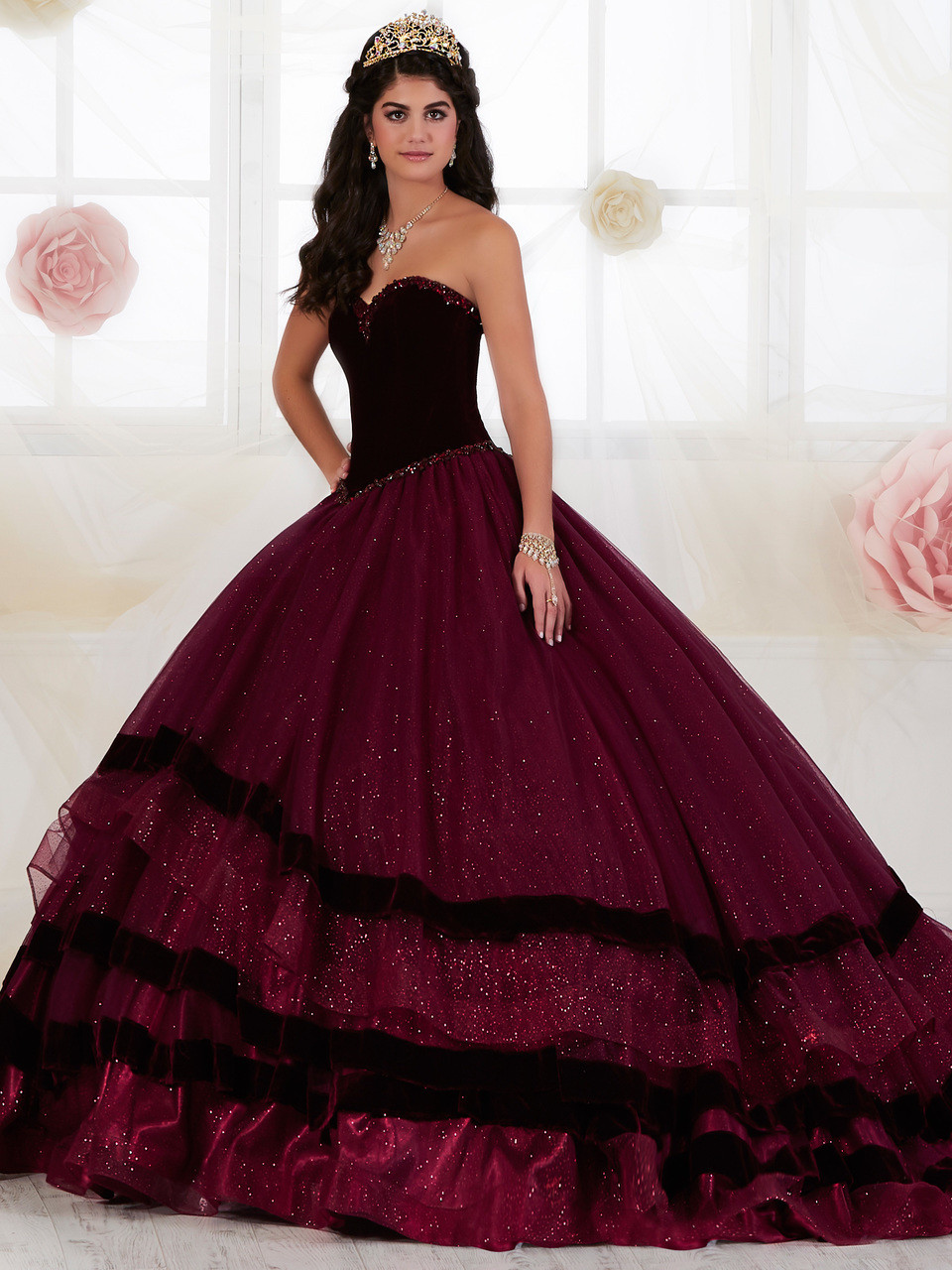 1bad0a0a2c Tiffany Designs. $590.00. Sweetheart Velvet Quinceanera Collection Ball Gown  Dress 26907. Free shipping