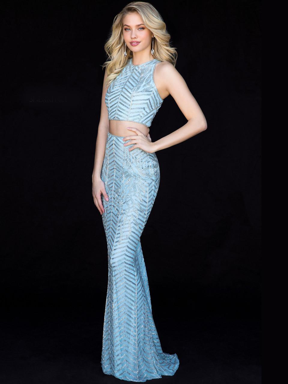 fd01423b2d Two Piece Fitted Sherri Hill Dress 51782