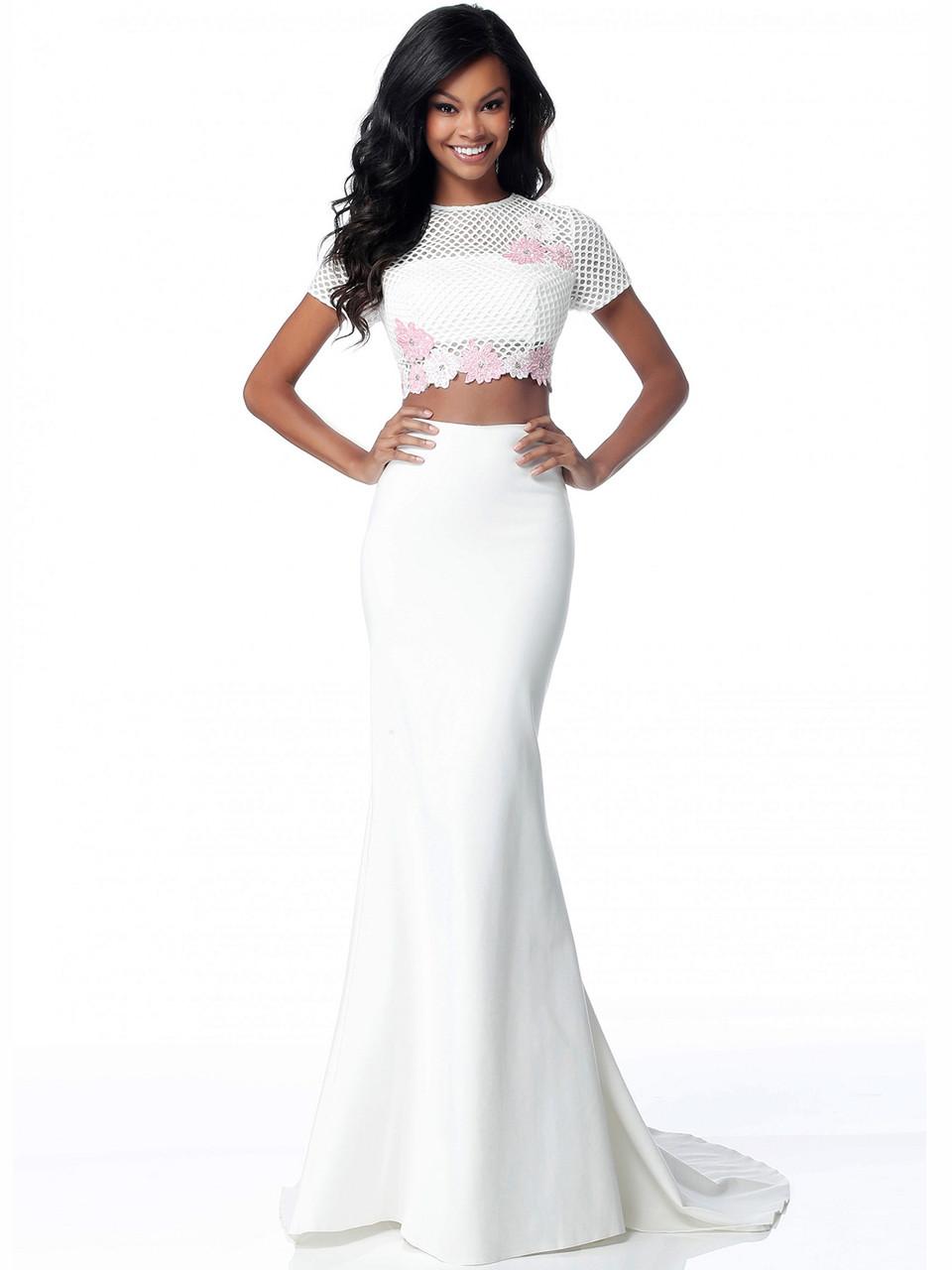 6f593bf808 Two Piece Short Sleeves Sherri Hill Dress 51834