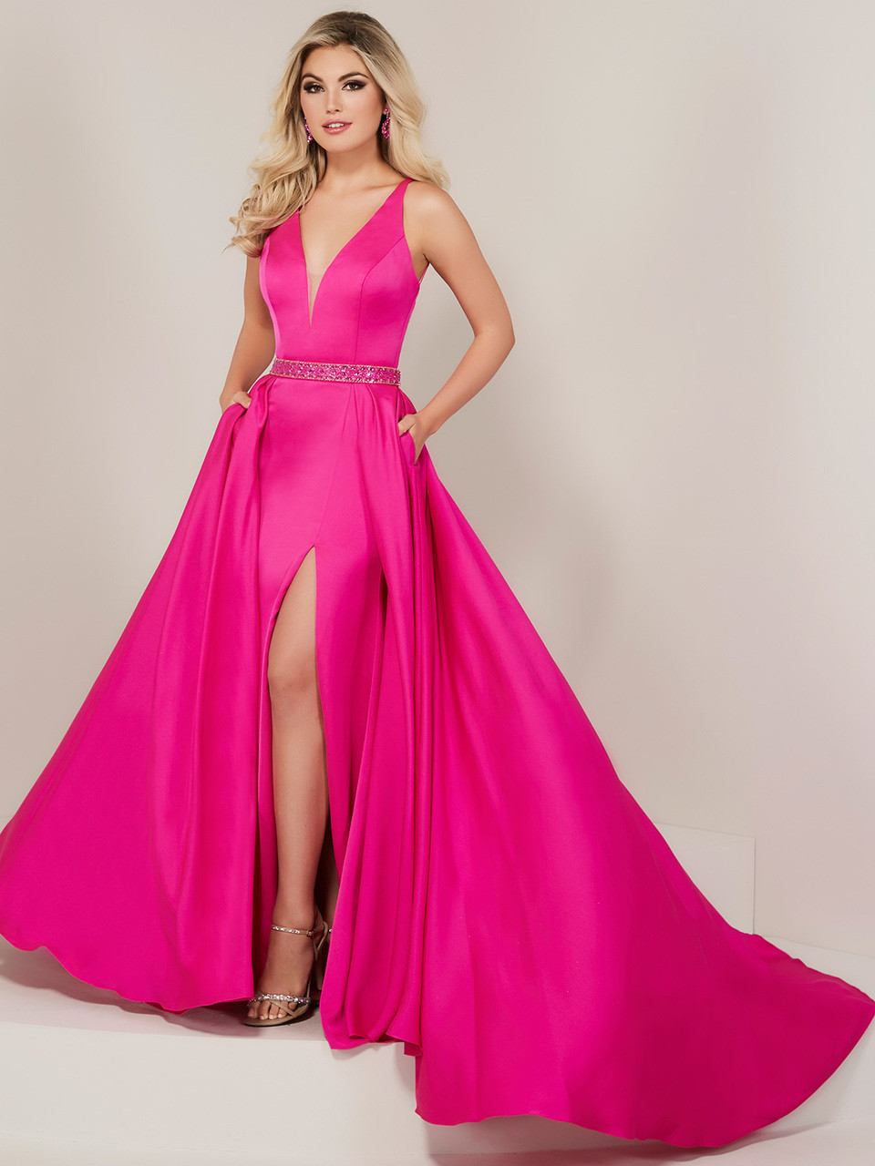 b325a4a6c1 V-neck Prom Dress Tiffany Designs 16328