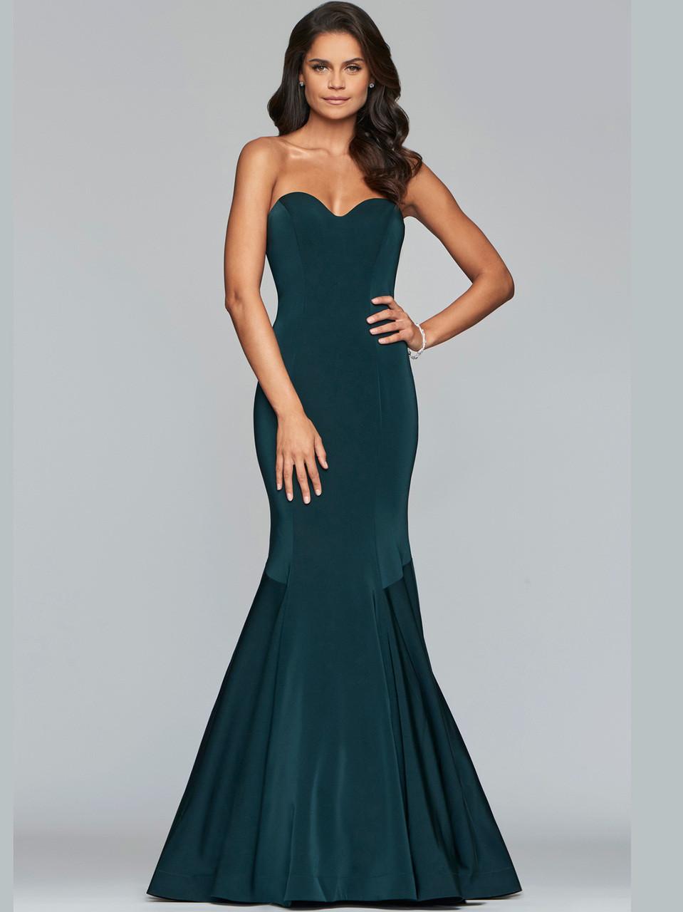 9b3e289983d Faviana Strapless Mermaid Satin Prom Dress S10213