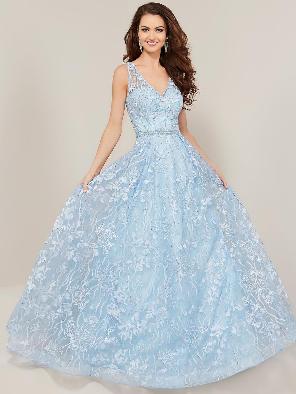 f2d4edb9a34 V-neck A-line Tiffany Designs 16346 Prom Dress - PromHeadquarters.com