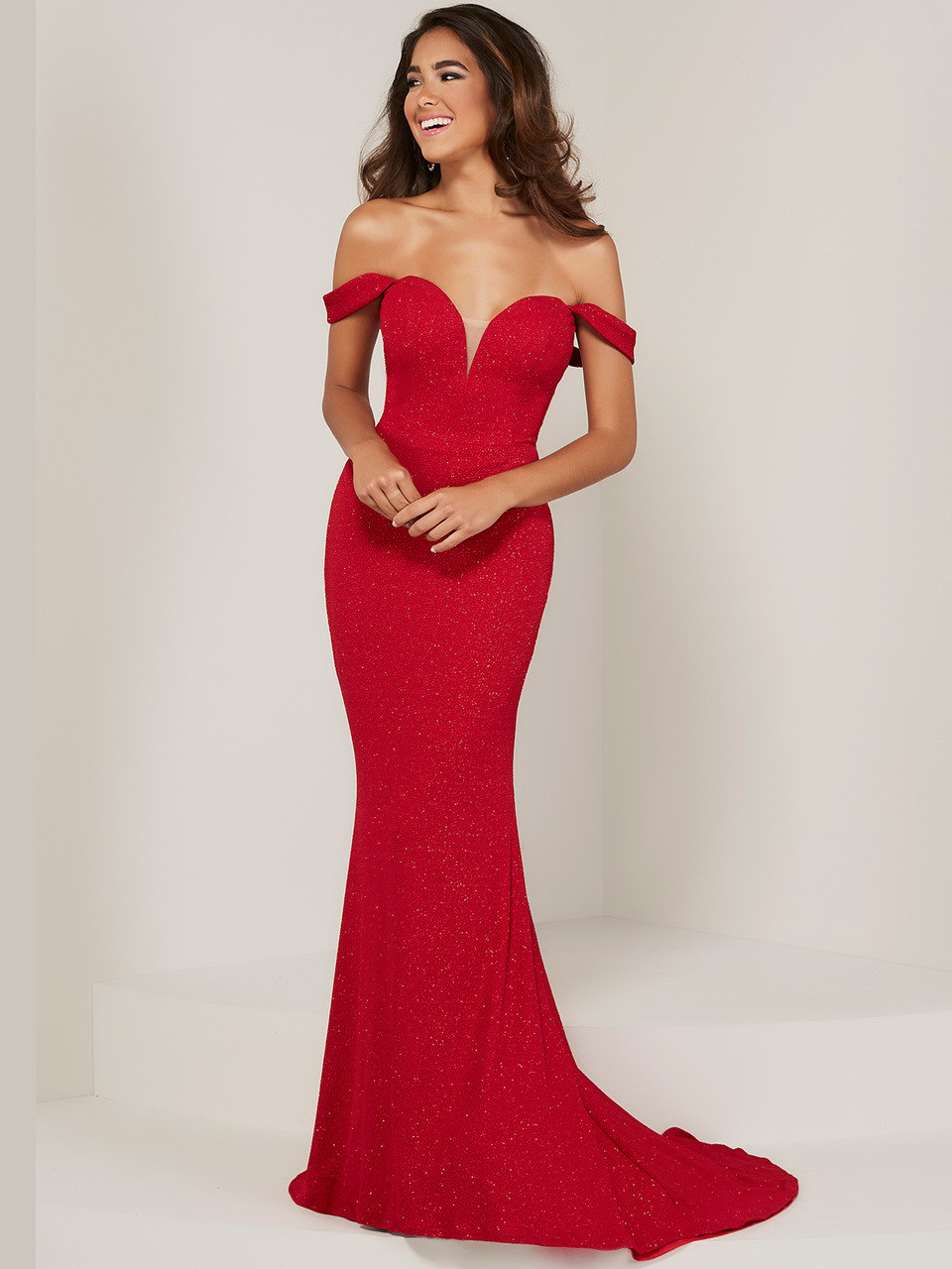4d480415d7d4 Off The Shoulder Tiffany Designs 16353 Prom Dress - PromHeadquarters.com