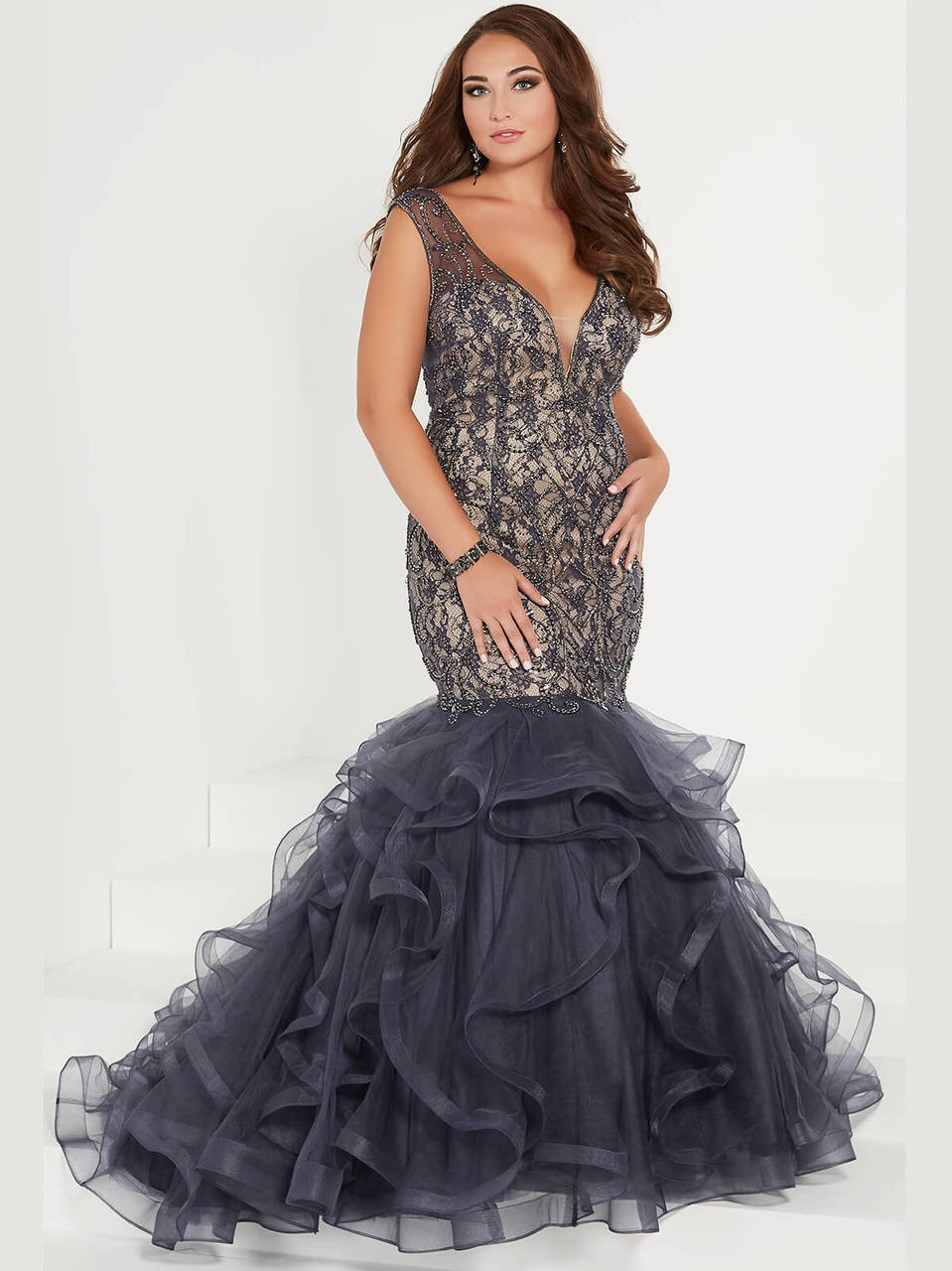 Mermaid Plus Size Prom Dress Tiffany Designs 16382