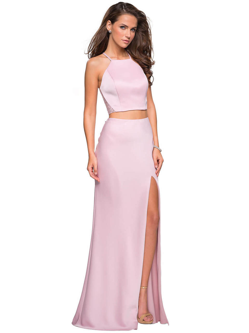 b0d415a054 Racerback Two-Piece La Femme Prom Dress 26926