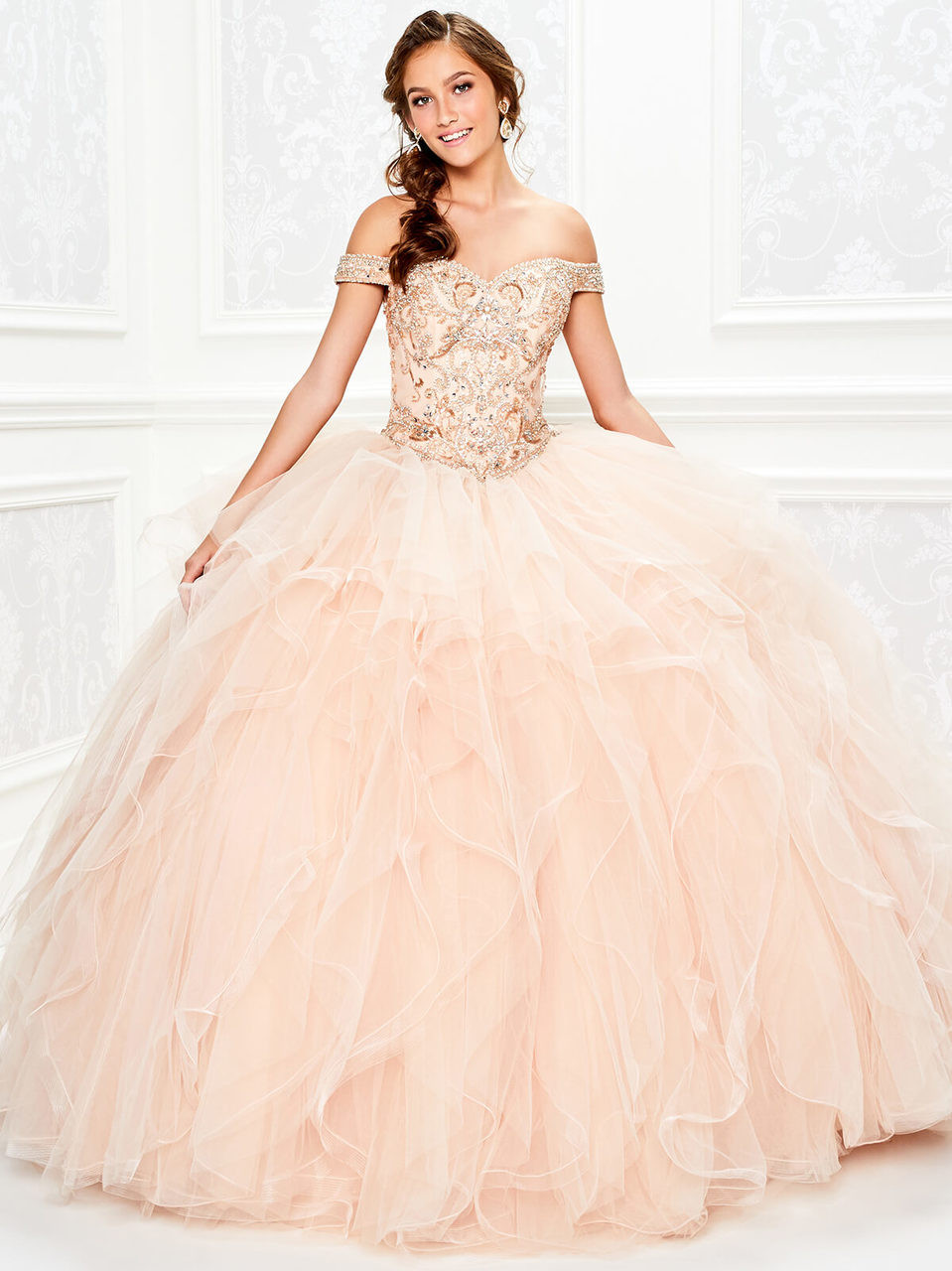 4dd543efe Princesa Quinceanera. $798.00. off the shoulder ruffled ball princesa by ariana  vara pr11932
